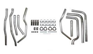Hooker Exhaust System Kit 16552HKR; Weld-Up Kit Header-Back for Dodge Trucks