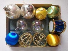 VINTAGE, CHRISTMAS TREE DECORATION VARIOUS SIZE BALLS, DRUM, ETC, CIRCA : 1970'S