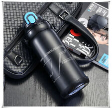 Stainless Steel Outdoor Thermos Travel Insulated Mug Potable Vacuum Cup 800ml BK