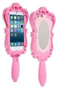 MOSCHINO iPhone 6 / 6s  Pink Mirror Novelty Silicone Snap On Back Case