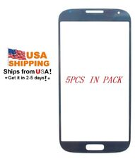 USA ! 5xOuter Glass screen Protector for Samsung Galaxy S4 i9500 i337 M919 Blue