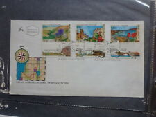 1993 ISRAEL NATURE RESERVES SET 3 STAMP W/- TAB FIRST DAY COVER