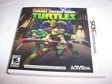 Teenage Mutant Ninja Turtles (Nintendo 3DS) XL 2DS Game w/Case & Insert