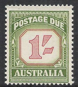 AUSTRALIA SCOTT J94 MNH FINE - 1958 1sh GREEN CARMINE POSTAGE DUE (D)   CAT $29