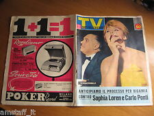 TV SORRISI E CANZONI=1962/11=SOFIA LOREN=SERENA VERGANO=MARINO BARRETO=