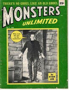 MONSTERS UNLIMITED NO 7  1966 FRANKENSTEIN STAN LEE