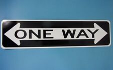 """CRAZY ONE WAY STREET SIGN 6"""" X 24""""  Aluminum Street Sign MADE IN THE USA"""