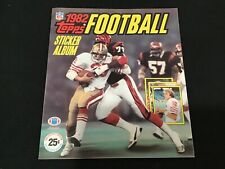 1982 Edition Topps Football Sticker Yearbook - Joe Montana Cover - Unused