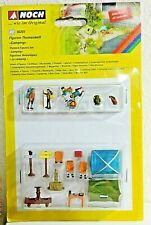 "Noch 16201 ""Camping"" Figure and Scene set  HO Scale - See Description Below"