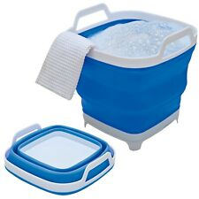 Collapsible Mop Bucket Folds Flat To 6cm Thick Easy Storage Cleaning Collapsable