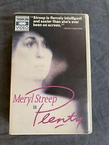 Betamax Beta PLENTY Meryl Streep 1985 HBO Thorn EMI