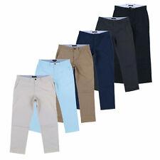 Tommy Hilfiger мужские брюки прочной хлопчатобумажной ткани индивидуальная посадка плоский передний брюки повседневные брюки новые