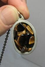 Jorgen Jensen Danish Tiger's Eye MidCentury Modern Necklace c1960 Scandinavian