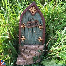 LARGE Fairy Door Elf Pixie Steps Wooden Stone Magical Garden Outdoor 19cm 39153
