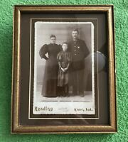 RARE Antique Cabinet Card 1880s - 1890s Knox, Ind. Police Officer & Family Photo