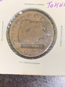 early large cent counter stamp first seen!