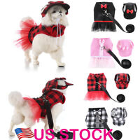 Cute Pet Dog Outdoor Tutu Skirts + Hat + Leash Harness Vest Set For Control Dogs