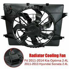 Ac Condenser Radiator Cooling Fan For 11-14 Kia Optima 11-13 Hyundai Sonata 2.4L