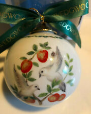Vntg Wedgwood Two Turtledoves Twelve Days Of Christmas Ball Ornament Day two