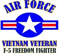 VIETNAM VETERAN F-5 FREEDOM FIGHTER AIR FORCE SHIRT