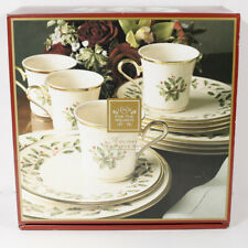 12-PC NEW LENOX HOLIDAY DINNERWARE SET 4 Place Settings HOLLY & IVY