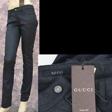 GUCCI New sz 4 - 40 Auth Designer Womens Leggings Pants Jeans Sparkling Black