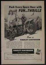 1948 Harley Davidson *Pack Every Spare Hour with Fun & Thrills* Motorcycle Ad