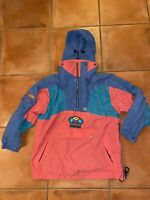 VTG 🔥 90s Mens Rip Curl HIGH ALTITUDE COLORBLOCK Ski Jacket Coat Hooded XL
