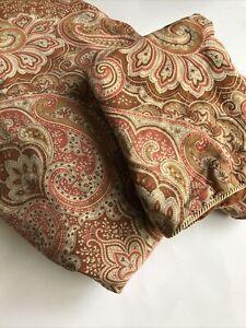 Chenab One Paisley Full Queen Duvet Cover & One Standard Pillow Sham Tan Rust
