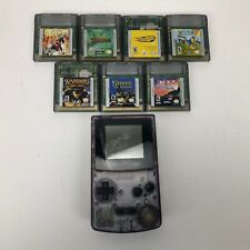 Nintendo Game Boy Color Handheld Console With 7 Games - Atomic Purple-Tested