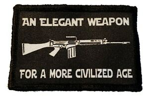 FN FAL Elegant Weapon Morale Patch Military Tactical Army Rhodesia Selous