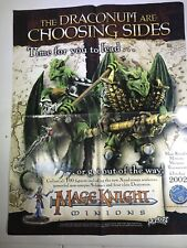 """Wizkids Mage Knight Minions Promotional Advertising Poster 17"""" x 22"""" Promo Item"""