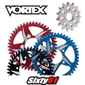 GSXR 750 Front and Rear Sprocket 2011-2021 Suzuki Vortex 525 Red Blue Black