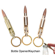 Bullet Shape Beer Soda Bottle Opener Key Ring Keychain Bar Tool Gift PL