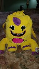 NEW So So Happy Lulu Yellow PURPLE HORN Monster Plush Backpack overnight bag #G1