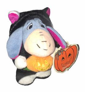 Disney Eeyore Halloween Wind-Up RETIRED RARE Winnie The Pooh Toy Plush W/ Tags