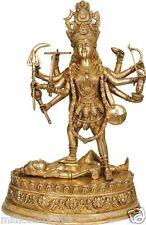 """Golden KALI Maa Mother Of God Statue 19.5"""" Brass Sculpture Figure Hindu Art 11KG"""