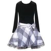 Rare Editions traumhaftes Mädchen Kleid Party Bow Dress Samt schwarz 164-170