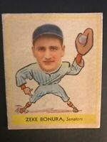 "1938 Goudey #252 Henry ""Zeke"" Bonura, Wash Senators *Sharp* Set Break ""Heads Up"""