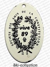 Ancienne Plaque émaillée SOCIÉTÉ DES AMIS DE LA CONSTITUTION. VIVE 89