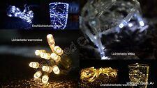 10 20 30 40 100er LED Lichterkette Micro Drahtlichterkette Batterie Weihnachten