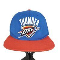 Oklahoma City Thunder OKC NBA Mitchell & Ness Blue Orange Snapback Hat Cap