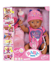 BABY BORN Soft Touch Girl Doll Pink Brown Eyes 9 Lifelike Features More Cuddly