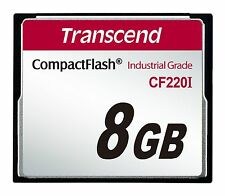 8GB Transcend Industrial Temperature Range CF220I 220X Ultra CompactFlash (SLC)