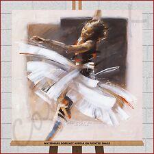 Ballet Dancer Dance Shoes Framed Canvas Picture Brown Beige Cream White Black
