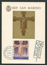SAN MARINO MK 1967 GEMÄLDE JESUS CHRISTUS MAXIMUMKARTE MAXIMUM CARD MC CM d7375