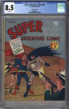 SUPER ADVENTURE COMIC #55  CGC 8.5  HIGHEST CGC GRADE - WORLD'S FINEST #71 RARE