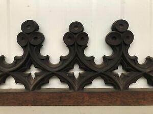 Beautiful Gothic Tracery/pediment in oak circa 1880 (3)