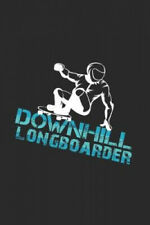 New listing Downhill longboarder: 6x9 Longboarding - grid - squared paper - notebook - notes