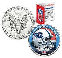 TENNESSEE TITANS 1 Oz .999 Fine Silver American Eagle $1 Coin NFL LICENSED